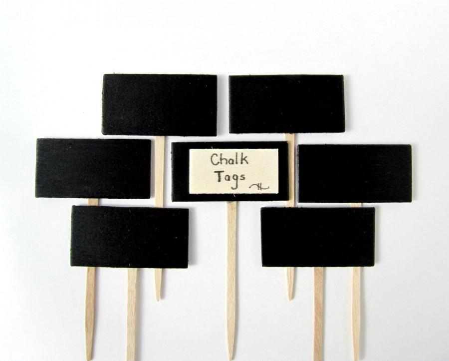 Hochzeit - Chalkboard Cupcake Toppers, chalkboard chesse markers, Chalkboard food picks