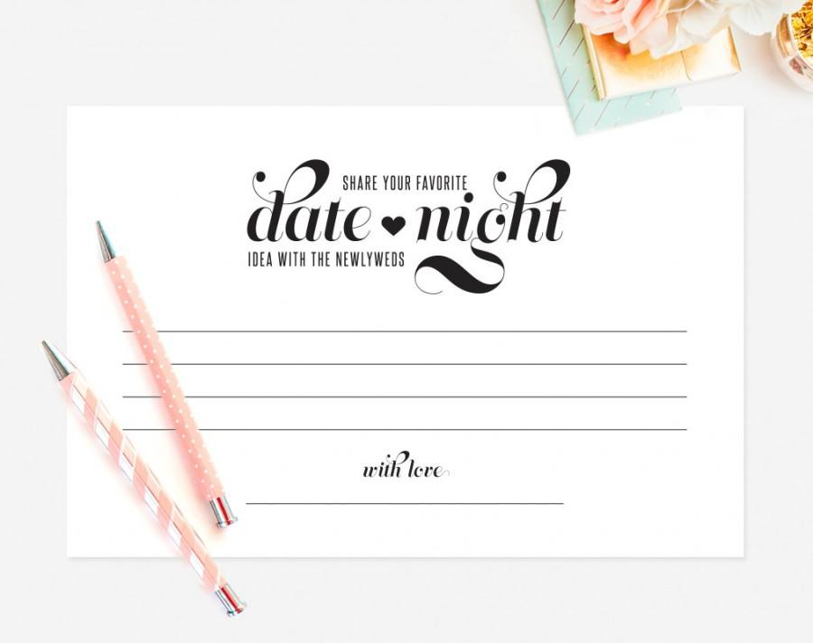 date night idea date night card wedding keepsake idea card wedding advice card marriage advice card printable instant download