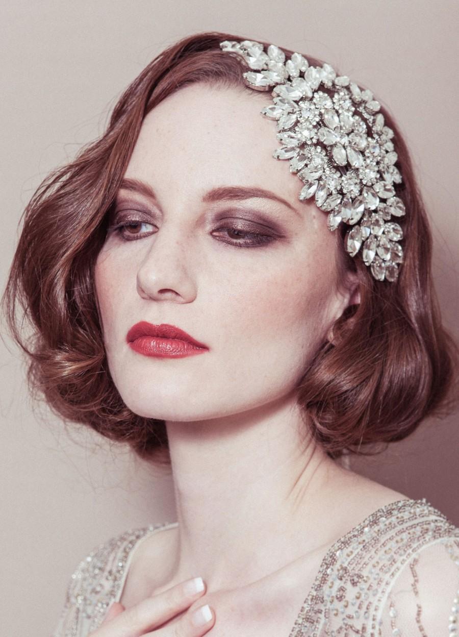 Wedding headband -  Hattie  rhinestone diamante cap style deco Gatsby  bridal headpiece 0ce6e3a792d