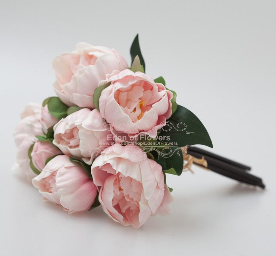 Hochzeit - Pink Real Touch Flowers Peony Bouquets for Wedding Bridal Bouquets Centerpieces Home Decoration