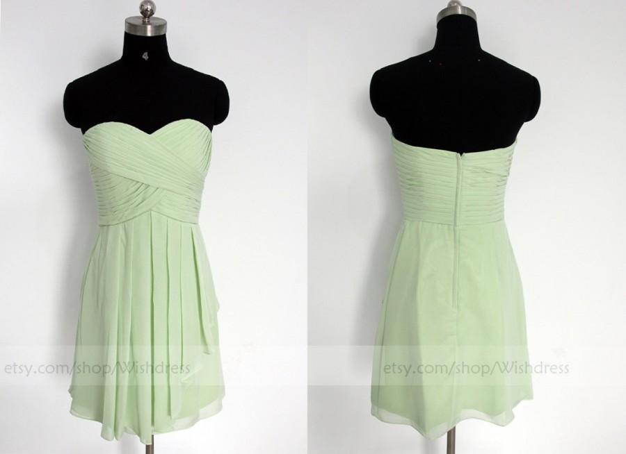 Wedding - Mint Short Bridesmaid Dress/Sage Bridesmaid Dress/Mismatch Bridesmaid Dress/Short Prom Dress/ Homecoming Dress/ Bridal Party dress/Party