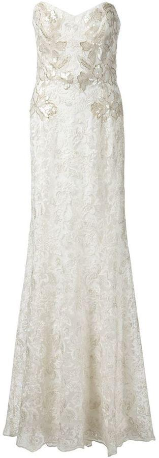 Wedding - Marchesa Notte strapless lace bridal gown