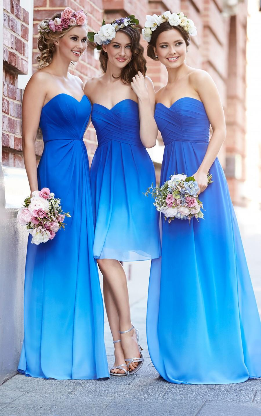زفاف - Sorella Vita Blue Ombre Bridesmaid Dress Style 8404OM
