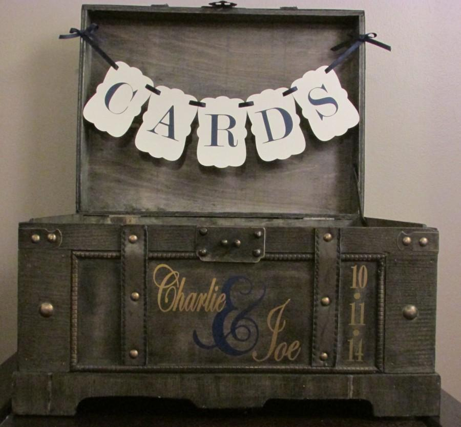 rustic wedding card box extra large vintage rustic trunk wedding