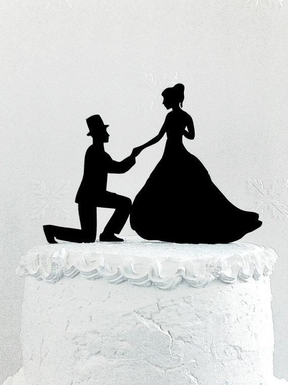 Свадьба - Wedding cake topper silhouette