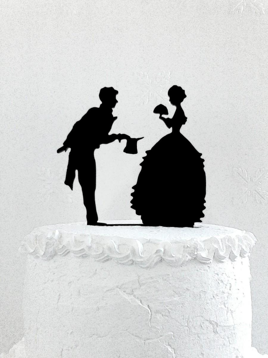 Mariage - Wedding cake topper silhouette