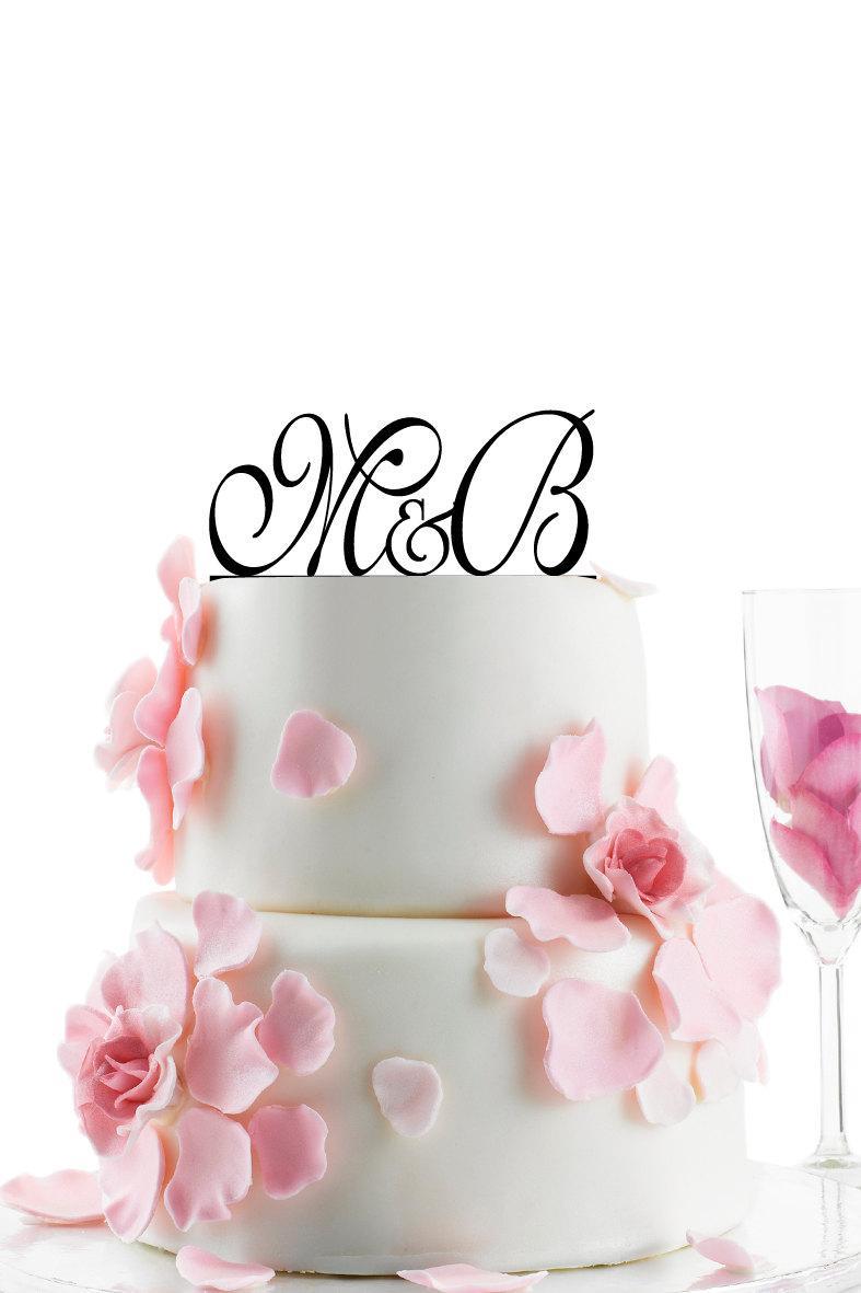 Mariage - Custom Wedding Cake Topper - Personalized Monogram Cake Topper -Initial -  Cake Decor - Anniversary- Bride and Groom