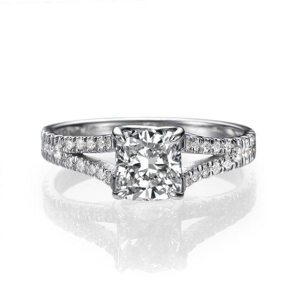 04 Carat Bands: 1.04 Carat Split Shank Engagement Ring, Diamond Ring, 14K