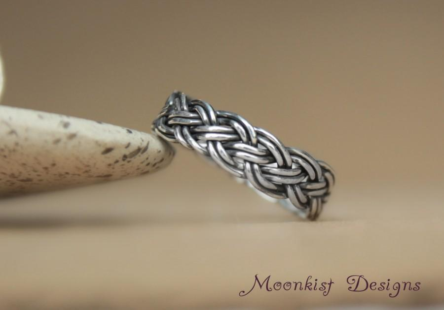 braided sterling band well strand two silver braid rings large collections corrugated textured as shop ring
