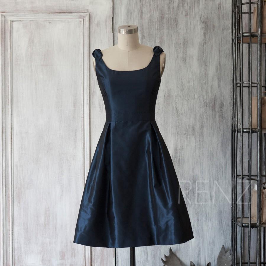 Mariage - 2015 New taffeta Bridesmaid dress, Wedding dress, Party dress, Formal dress, Knee-length dress (TT051)