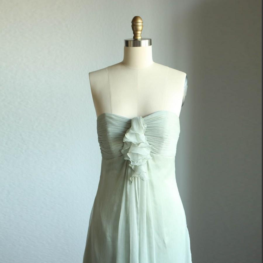 2015 Dusty Shale Bridesmaid Dress, Short Wedding Dress, Chiffon ...