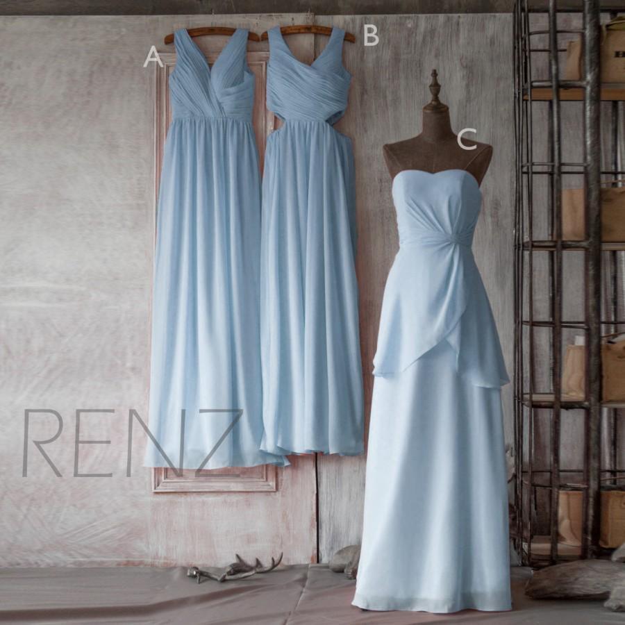 2015 Light Blue Mix And Match Bridesmaid Dress, Long Wedding Dress ...