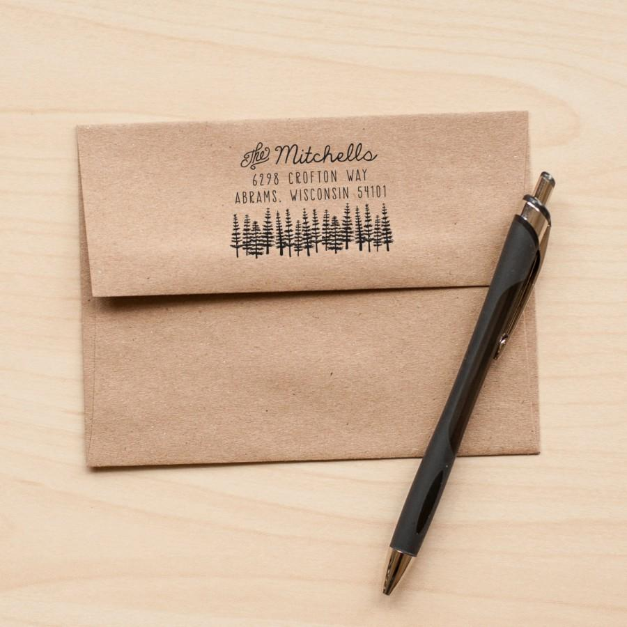 Custom Wedding Invitation Rubber Stamp
