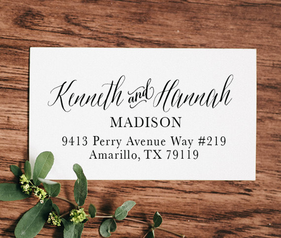 زفاف - Self Inking Address Stamp, Address Stamp, Custom Address Stamp, Return Address Stamp, Personalized Gift, Rubber, Christmas Gift - 1001