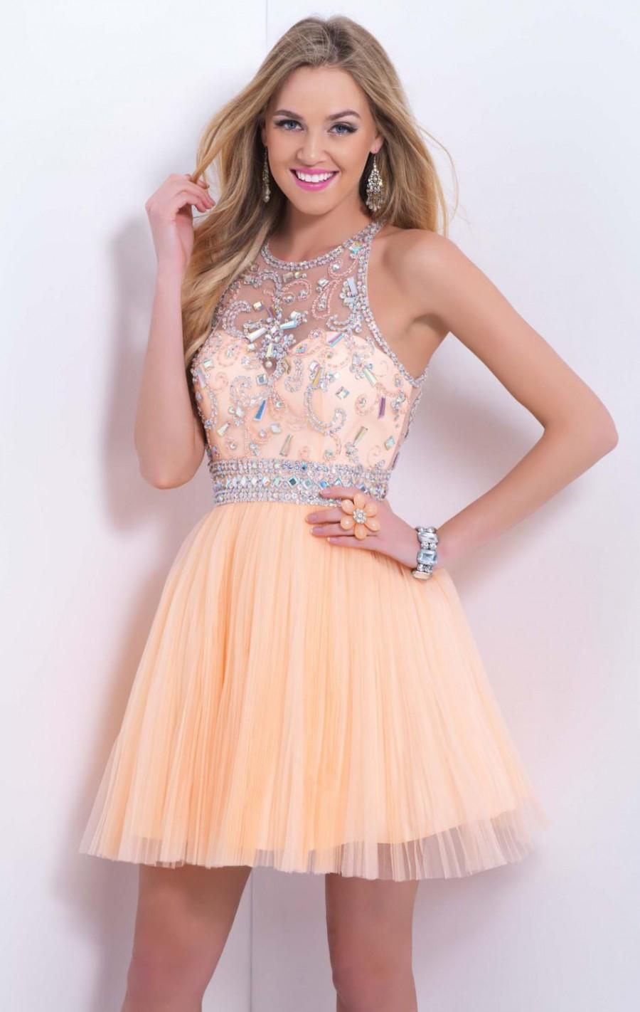 A-Line Orange Prom Dresses
