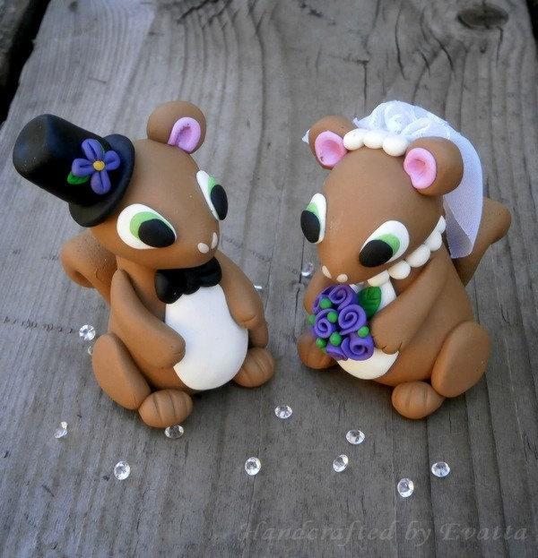 Mariage - Custom Squirrel Wedding topper