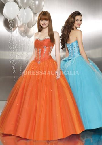 Wedding - Buy Australia Orange Organza Short Evening / Sweet 16 Dress/ Prom Dresses By MLGowns ML8740 at AU$171.67 - Dress4Australia.com.au