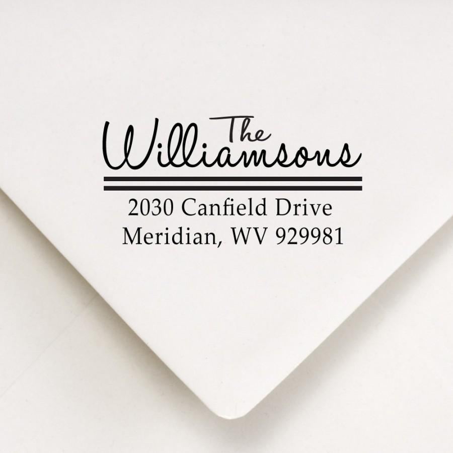 Wedding - Custom Address Stamp   - Handwritten sans serif font types - Perfect Holiday Stocking Stuffer The Williamsons Design