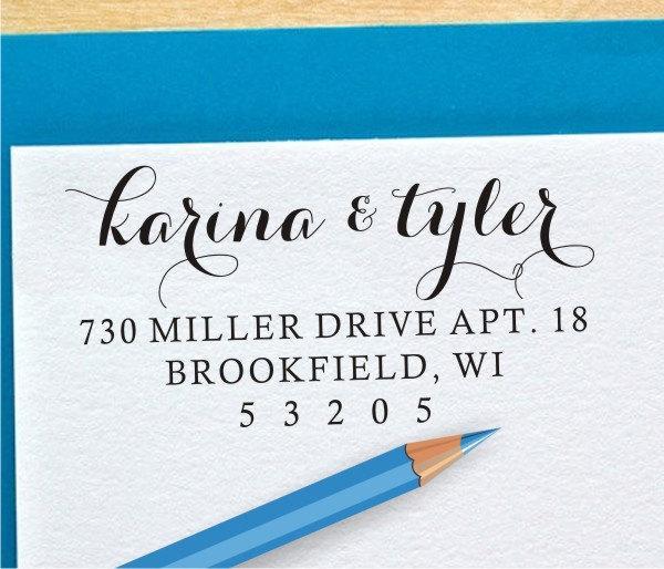 Hochzeit - Custom Return Address Stamp - Self Inking Personalized Custom Address Rubber Stamp (043)