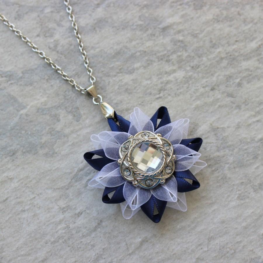 Свадьба - Navy Necklace, Navy Blue Necklace, Navy and White Wedding, White and Navy Blue Wedding, Navy Blue and White Jewelry, Navy Blue Jewelry