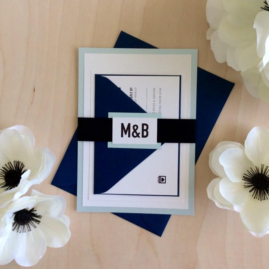 Hochzeit - Modern & Bold Wedding Invitation Sample