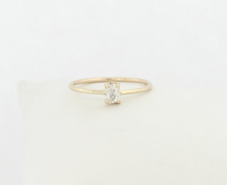 Wedding - Oval Diamond Engagement Ring, Diamond Engagement Ring, Oval Diamond Ring, Oval Shape Diamond Engagement Ring, 14K Engagement Ring