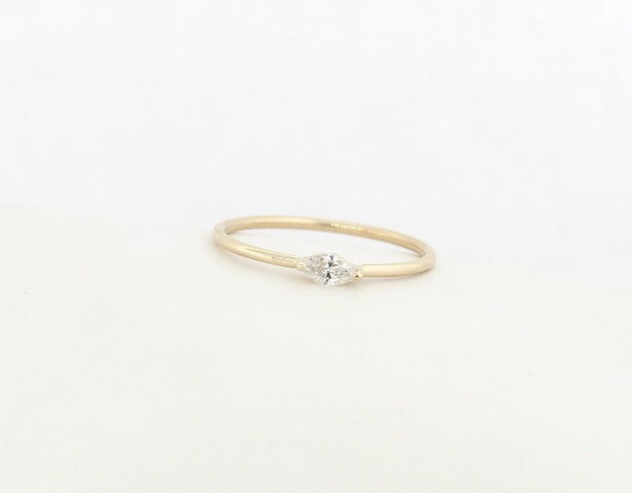 Wedding - Marquise Diamond Engagement Ring, Diamond Engagement Ring, Marquise Diamond Ring, Marquise Shape Diamond Engagement Ring, Engagement Ring