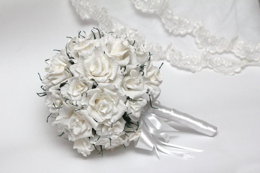 Wedding Bouquet Bridal Flower Bouquets Paper Vintage Handmade