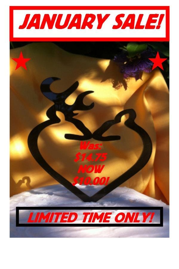 Свадьба - Silhouette Deer Wedding Cake Topper, Buck and Doe Wedding Cake Topper,