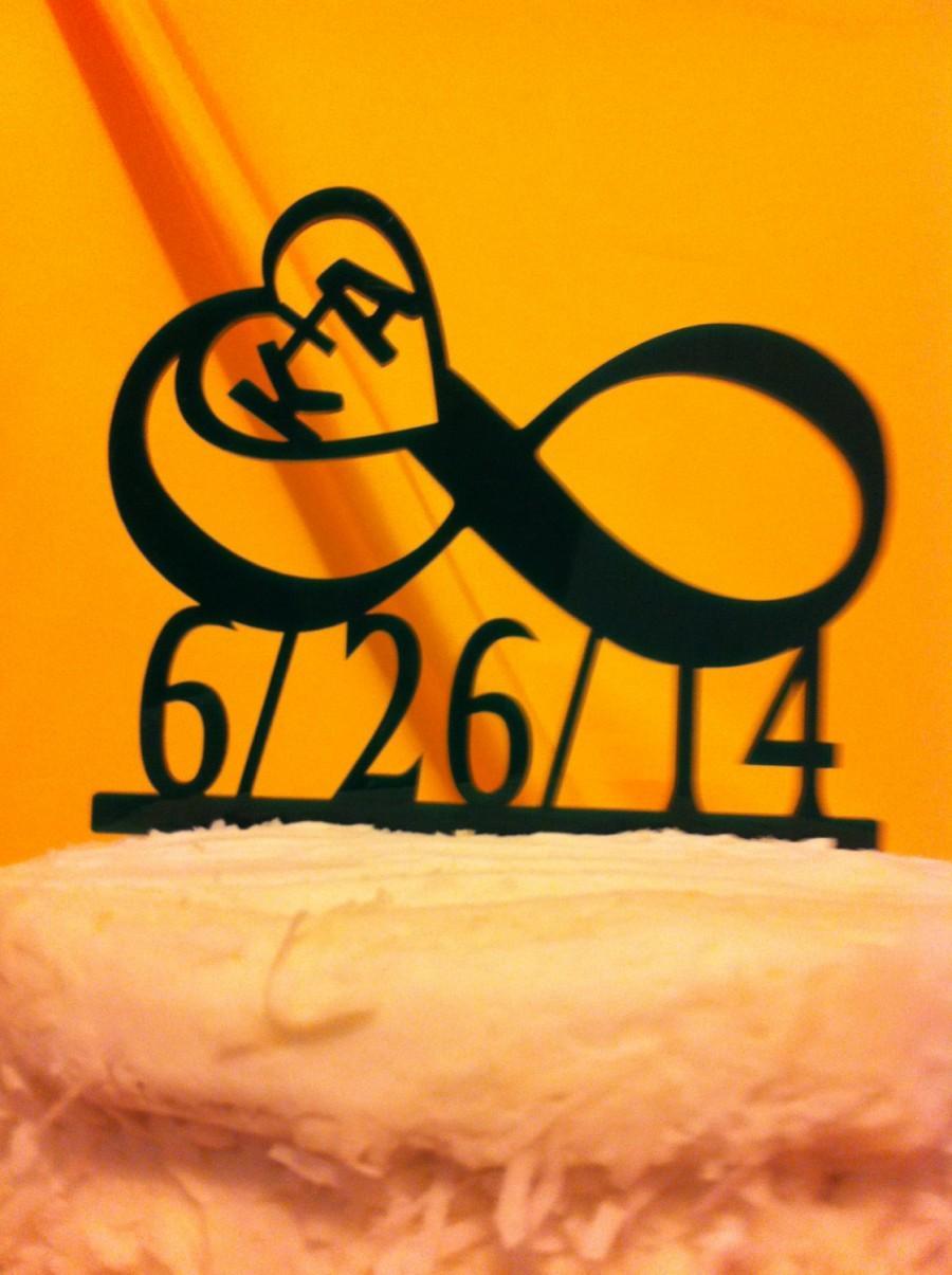 Acrylic Personalized Monogram Infinity, Initials Heart , Date ...