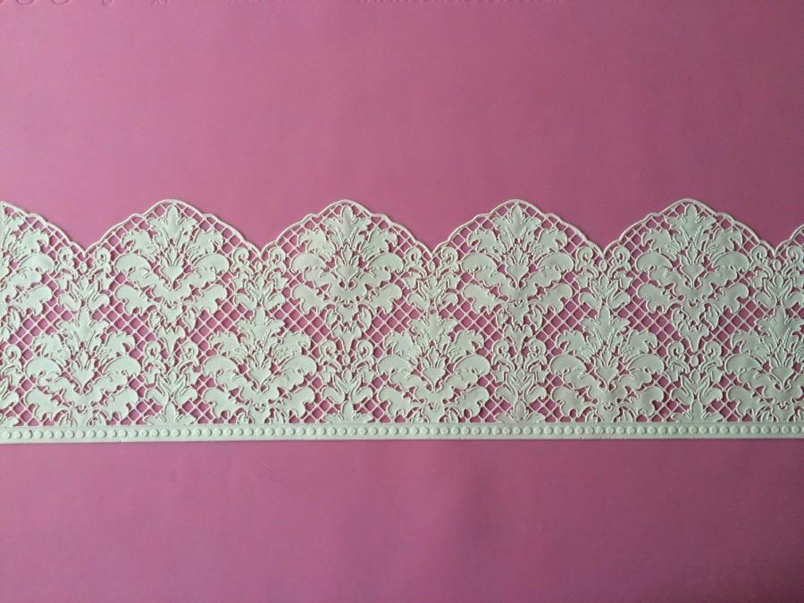 Edible Lace Damask Design Cake Lace Sugar Lace 2431340 Weddbook
