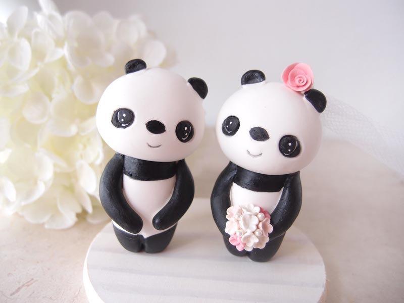Mariage - Custom Wedding Cake Toppers - Love Panda