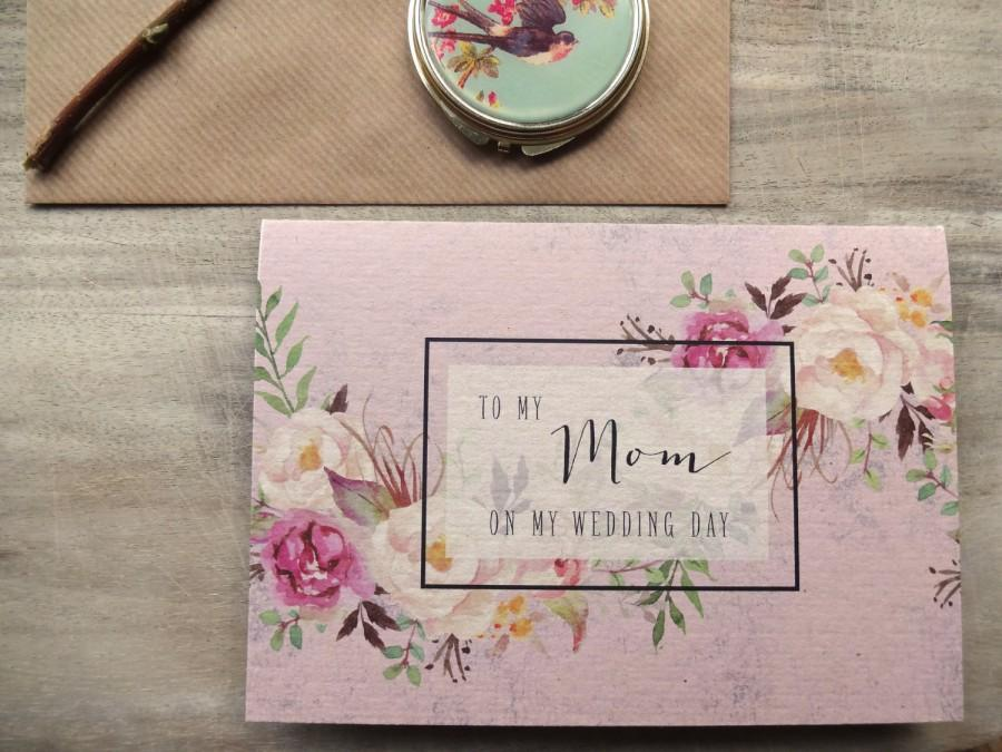 To My Mum On Wedding Day Card Mom Mother In Law 5x7 With Envelope