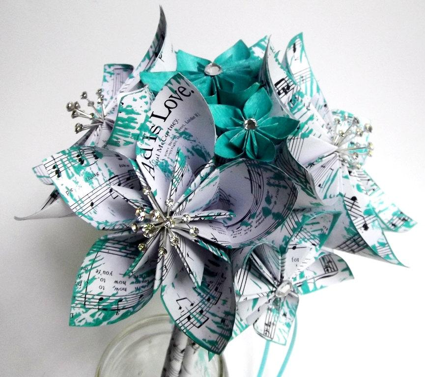 Paper Flower Bridal Package- Made To Order, One Of A Kind Origami ...