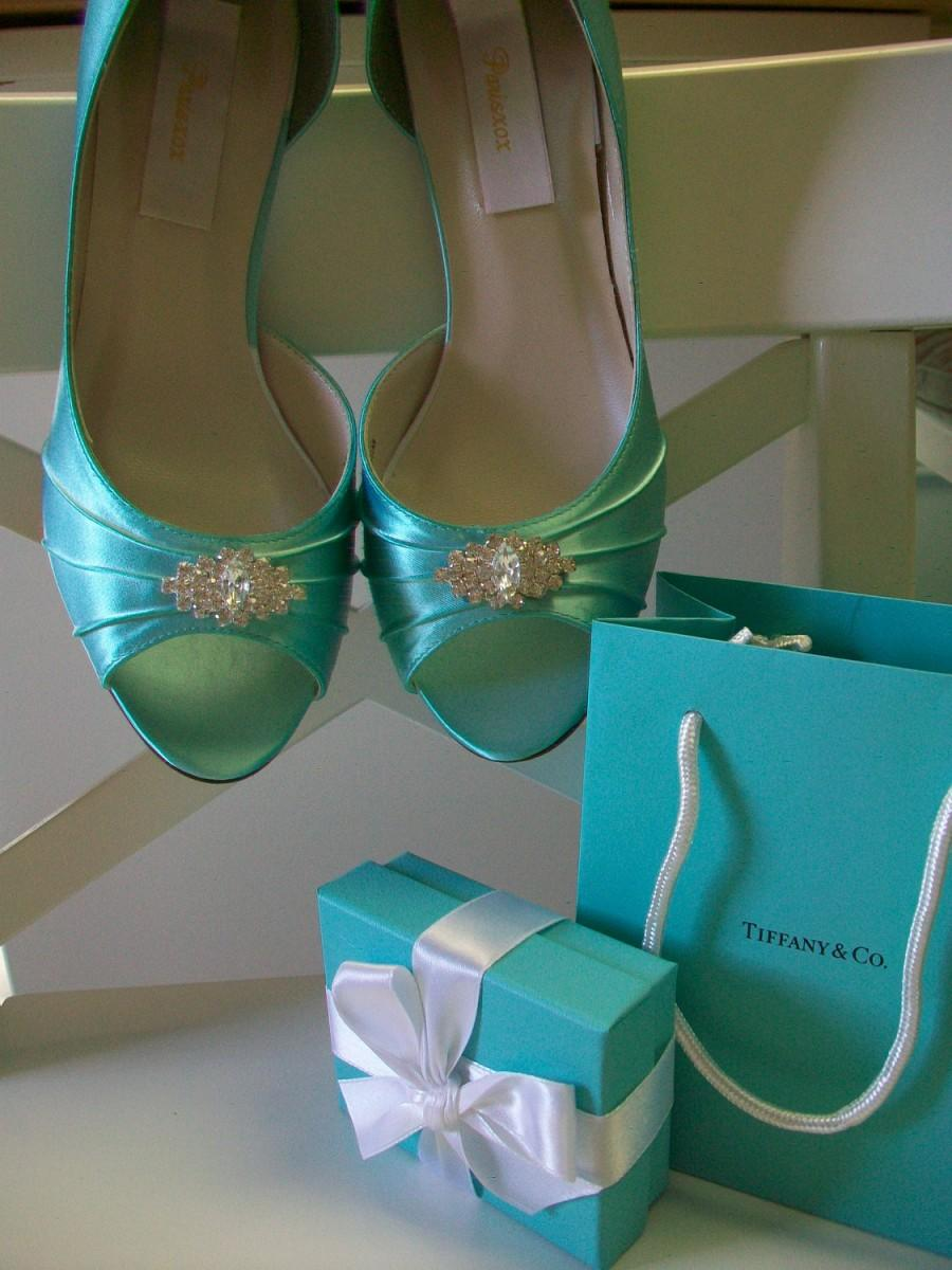 Wedding Shoes - Aqua Blue Shoes - Bridal Shoe - Aqua Blue ...