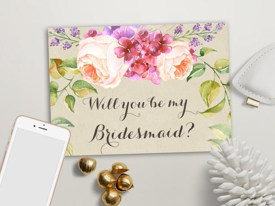 photograph about Printable Bridesmaid Cards named Will By yourself Be My Bridesmaid Card Printable, Maid Of Honor
