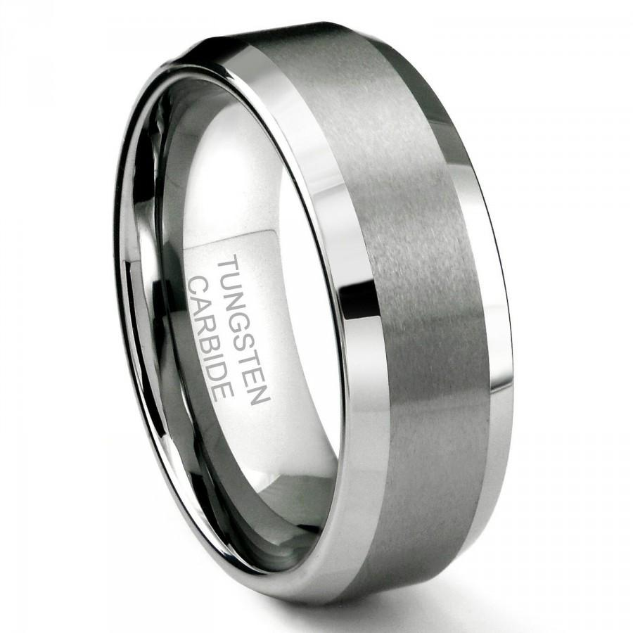 wedding 8mm tungsten carbide men 39 s wedding band ring in comfort fit