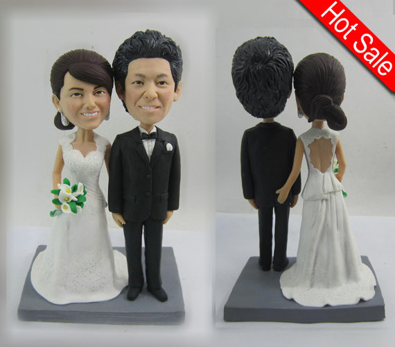 Mariage - wedding topper Cake Toppers custom cake topper wedding cake topper - PG01
