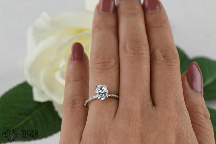 1 25 Carat Oval Accented Solitaire Wedding Ring Half Eternity Bridal Ring
