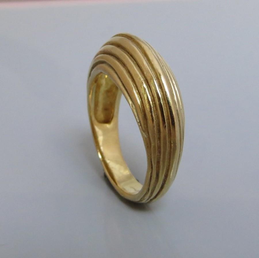 Свадьба - Wide Gold Ring , Wide Band Ring , Handmade Wedding Ring , 14k Gold Ring , Woman wedding Band , Anniversary gift Idea