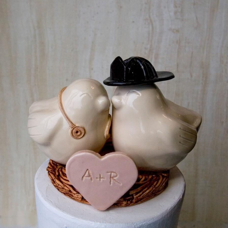 Mariage - Firefighter and Nurse Cake Topper