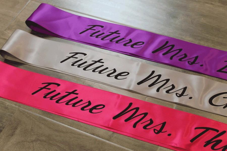 bachelorette future mrs party sash personalized bridal shower birthday pageant baby shower