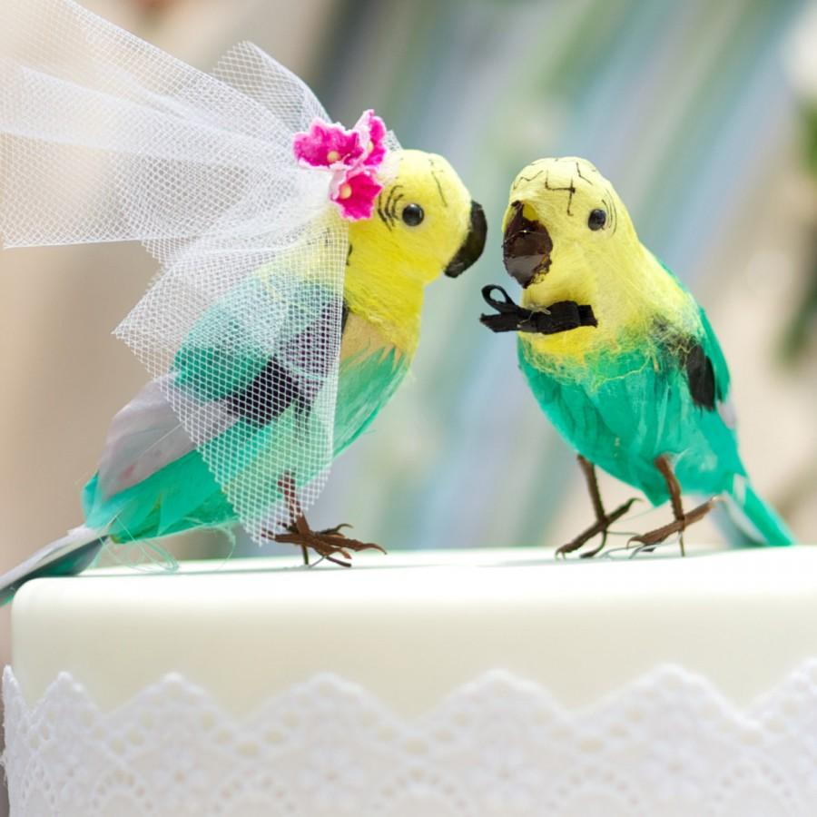 Parrot Wedding Cake Topper