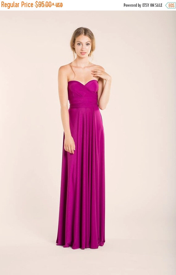 Wedding - CHRISTMAS SALE Orchid Long Infinity Dress, orchid bridesmaid, pink gown, bridesmaid dresses, weddings, evening long dress, prom dresses, bri