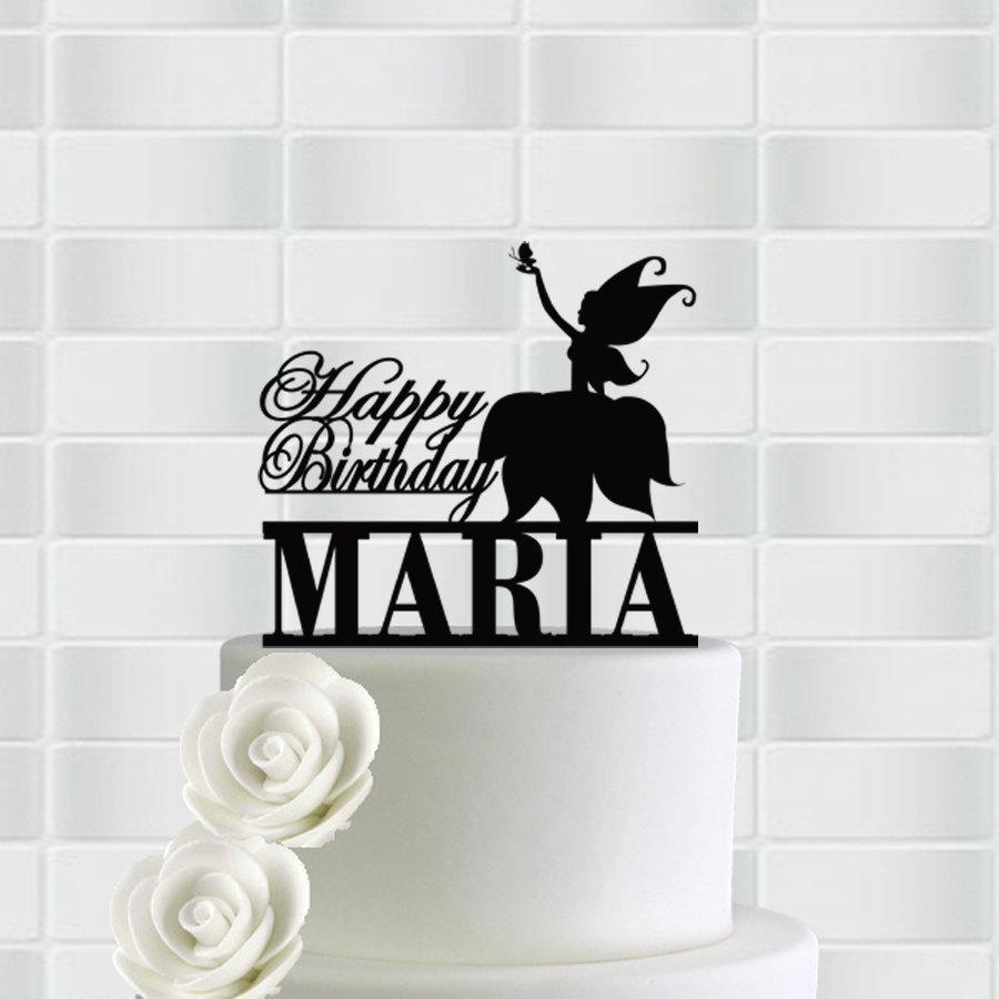 Wedding - Birthday Cake Topper, Birthday Cake Decor, Cake Topper For Birthday , Name Cake Topper, Happy Birthday Cake Topper