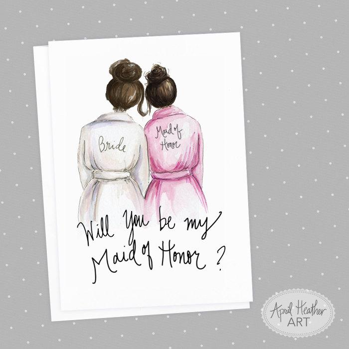 Maid Of Honor PDF Download Brunette Bride, Brunette Will You Be My