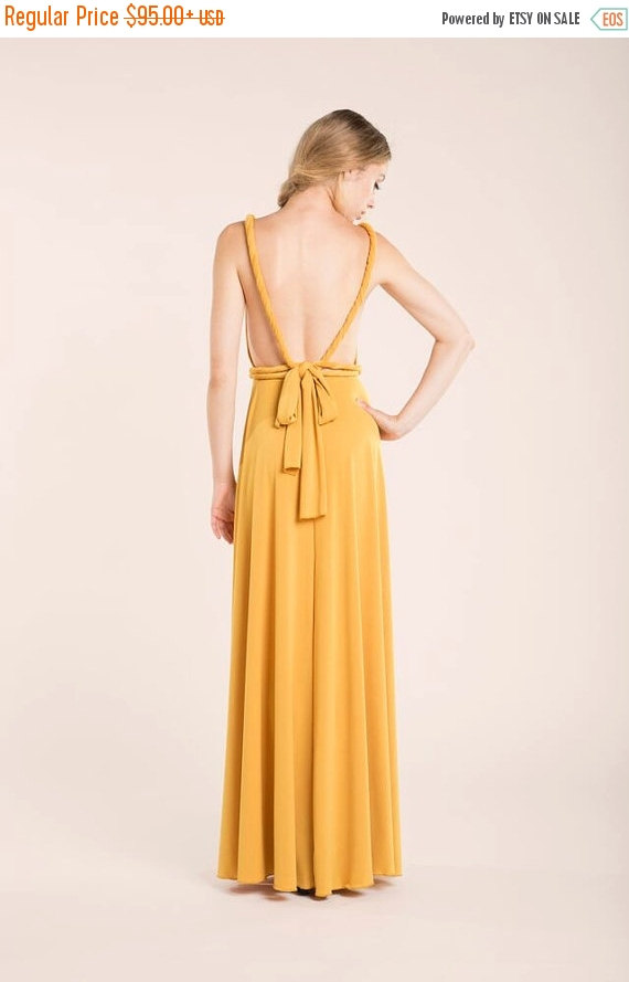 Christmas Sale Mustard Party Dress Yellow Long Dress Mustard