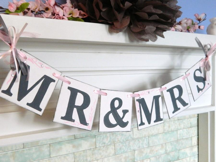 Mr And Mrs Wedding Banner / Wedding Garland / Bride And Groom ...
