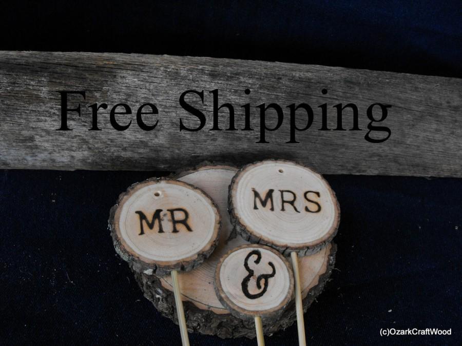 Mariage - Rustic Winter Wedding Cake Topper FREE SHIPPING/ Wedding  Cake Decorations / Rustic Decorations/ Woodland Wedding