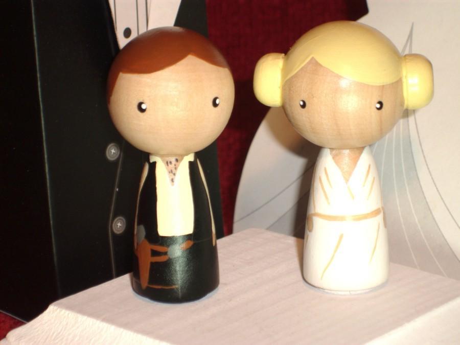 Kokeshi Star Wars Wedding Cake Topper Kokeshi Princess Leia And Han